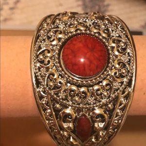 New w Tags Red Gem Silver Fashion Bracelet